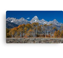 Fall in the Grand Tetons Canvas Print