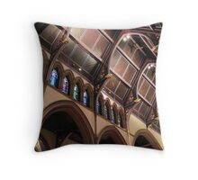 Ceiling of St. Paul's Cathedral in Buffalo Throw Pillow
