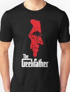 The Geekfather (White/Red print) T-Shirt
