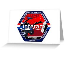 INTERACT: Interactive Robotics Demonstration Logo Greeting Card