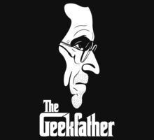 The Geekfather (White Print) by GritFX