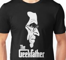 The Geekfather (White Print) Unisex T-Shirt