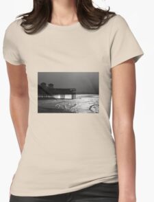 Grand Pier, Weston-super-Mare B&W Womens Fitted T-Shirt