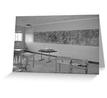 B&W classroom in Africa Greeting Card