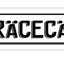 Euro plate simple - racecar Sticker
