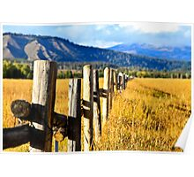 Old Fence Rows Poster