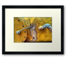 Yellow + Rust Framed Print