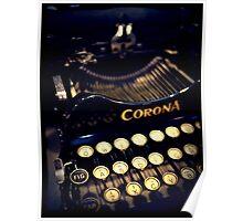 Vintage typewriter Poster
