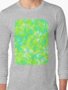Grunge Art Floral Abstract Long Sleeve T-Shirt