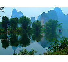 on the Li river Photographic Print