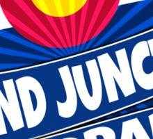 Grand Junction Colorado flag burst Sticker