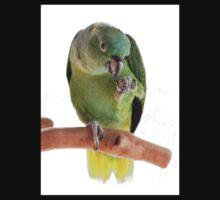 Parrot eating peanut Kids Tee