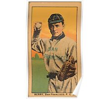 Benjamin K Edwards Collection Berry San Francisco Team baseball card portrait 001 Poster