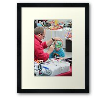 Face painting RoyalHobart Show 2011 Framed Print