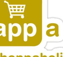 An app a day is the shoppaholic's way Sticker