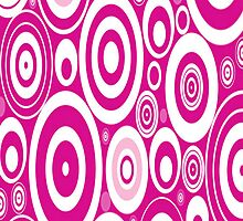 Pink Retro Circles by purplesensation