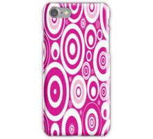 Pink Retro Circles iPhone Case/Skin