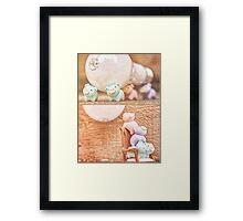 how many piggies dose it take to screw in a light bulb? Framed Print