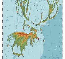 Cervidae - Land of the Deer by Jeppe  Knudsen Ringsted