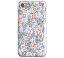Blue Pink Floral iPhone Case/Skin