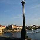 Lamp on Charles Bridge, Prague by soulwhisperer