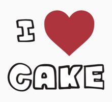 I Heart Cake One Piece - Short Sleeve