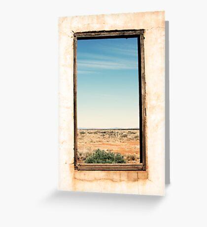 Through the window - South Australia ruins. Greeting Card