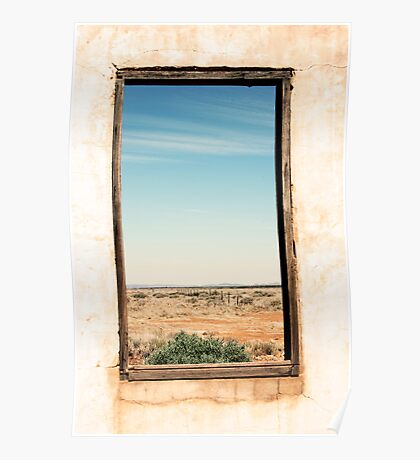 Through the window - South Australia ruins. Poster