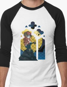 Day of the Dead girl and Gothic window  Men's Baseball ¾ T-Shirt