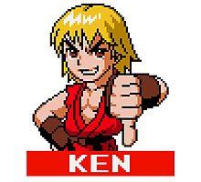 Ken Masters - Street Fighter Sprite Photographic Print