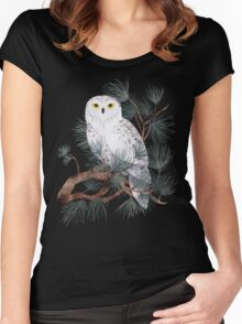 Snowy Women's Fitted Scoop T-Shirt