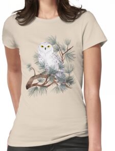 Snowy Womens Fitted T-Shirt