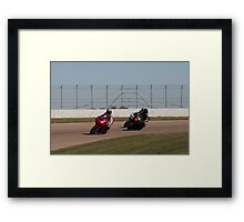 Fuschia Suzuki SV-650S, Number 42, and Number 80 Framed Print