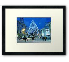 Christmas Shopping in Cardiff Framed Print