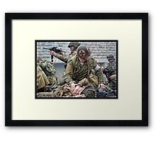 Under Pressure - World War Two Reenactment Framed Print