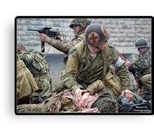 Under Pressure - World War Two Reenactment Canvas Print