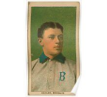 Benjamin K Edwards Collection Bill Dahlen Brooklyn Dodgers baseball card portrait 001 Poster