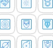 Legion of Superheroes Monitor Board Symbols Sticker