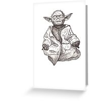 Yoda Greeting Card