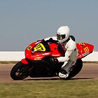 Number 117, Kawasaki Ninja, Red and Black by Paul Danger Kile