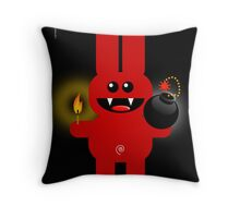 RABBIT 4  (Cute pet has a bomb and its alight!) Throw Pillow