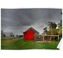 Stormy Farm Poster