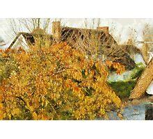 Cottage in Fall - Edegem - Belgium Photographic Print
