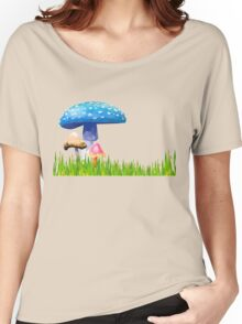 Low Poly Mushrooms Women's Relaxed Fit T-Shirt