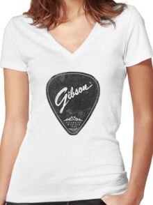 Legendary Guitar Pick Mashup Version 02 Women's Fitted V-Neck T-Shirt