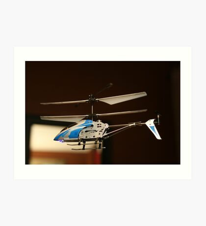 Toy Helicopter - In flight! Art Print