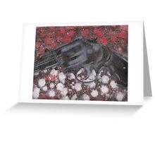 Anti Snob Handgun Greeting Card
