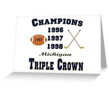 Wolverine Triple Crown Winners Greeting Card