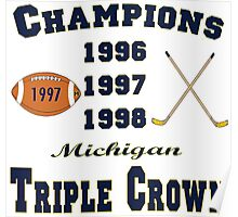 Wolverine Triple Crown Winners Poster