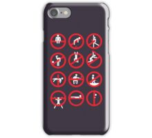 Not permitted! iPhone Case/Skin